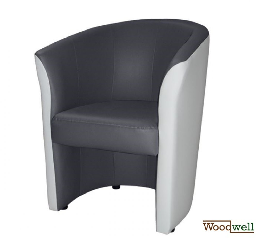 """Belize"" cocktail chair in modern design in gray and white"