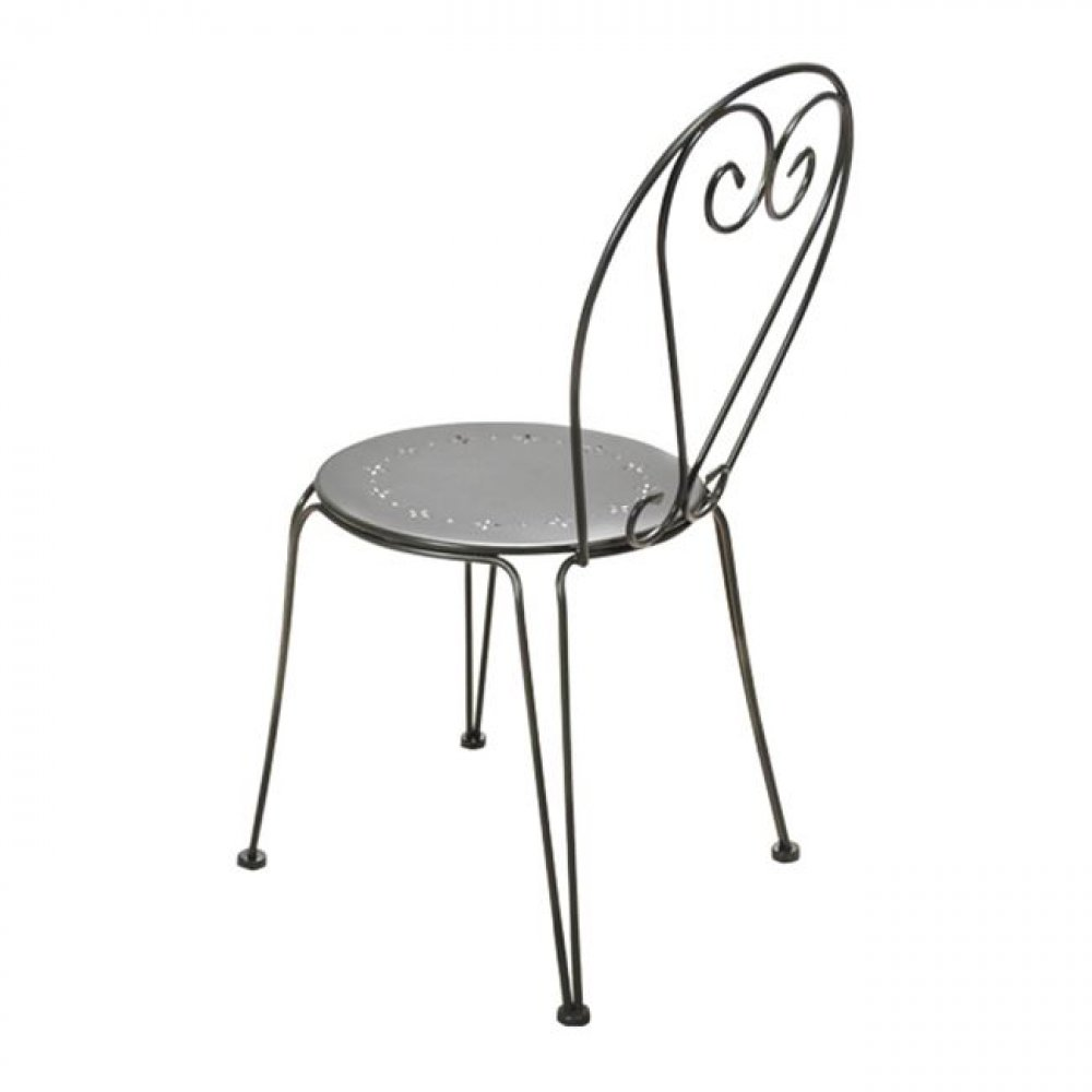 Garden chair with black pattern