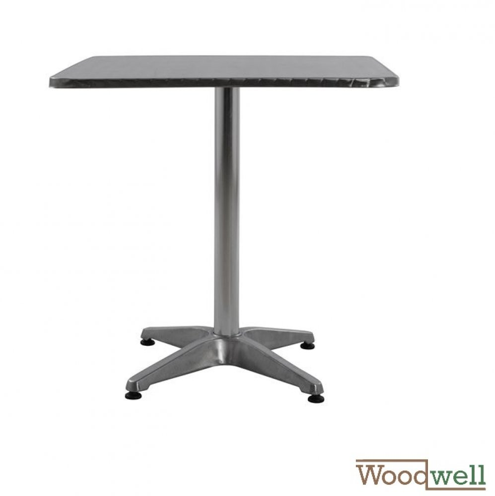 Aluminum Outdoor Tables buy cheap | Modern outdoor and indoor table, Frode aluminum table on a 4 foot stand, color silver, 70x70x72Y cm