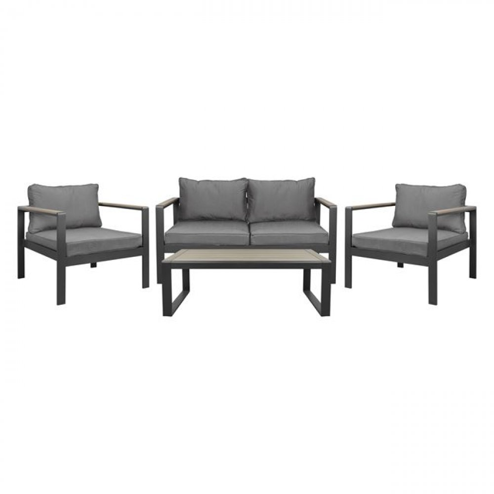 SAN DIEGO 4 - piece - Lounge furniture /  / WOODWELL / CASSIE / Anthracite - Beige