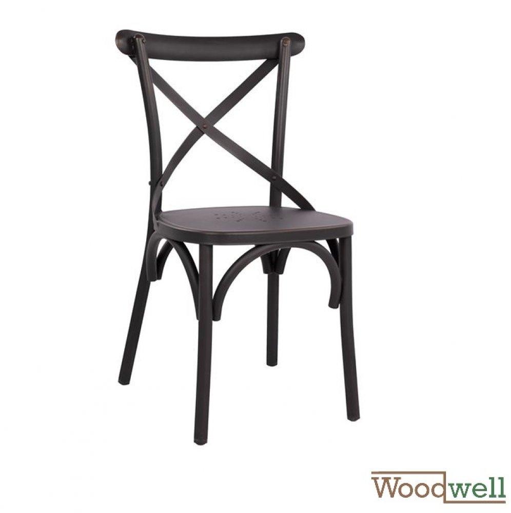 Außen KaufenModerner In Stühle Günstig Und Stuhl Aus Moderne Outdoor AluminiumRückenlehne Innen RostoptikSchwarz rdxBCoe