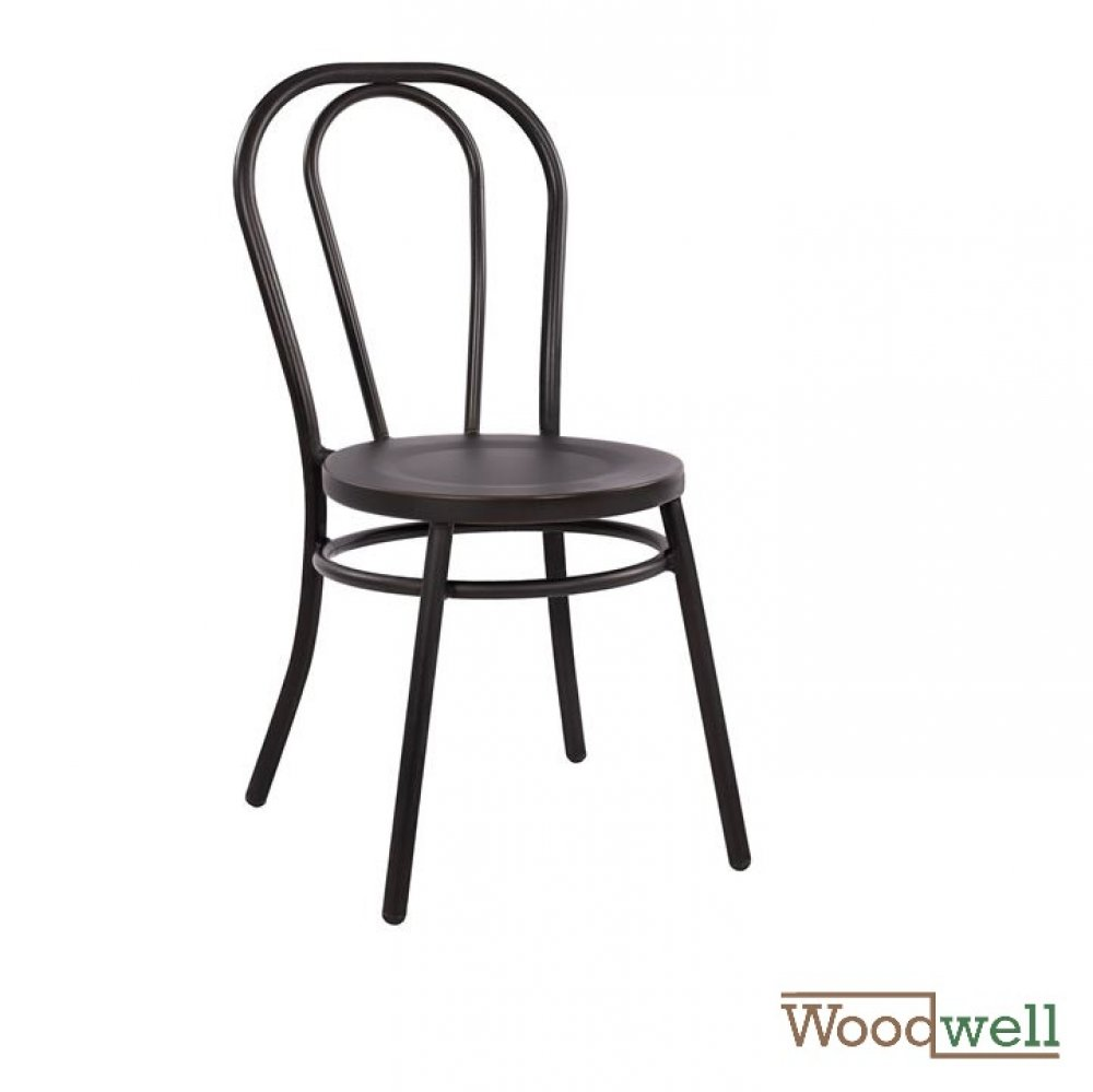 Aluminum chair in Viennese style, in black rust tone