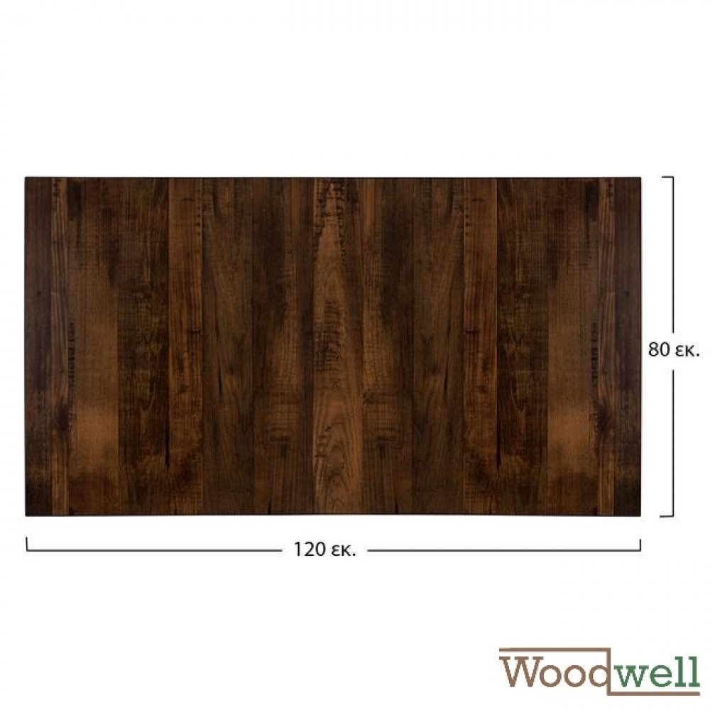 "Melamine 32 mm table tops buy cheap | Table top in ""Walnut"" 120x80 cm"