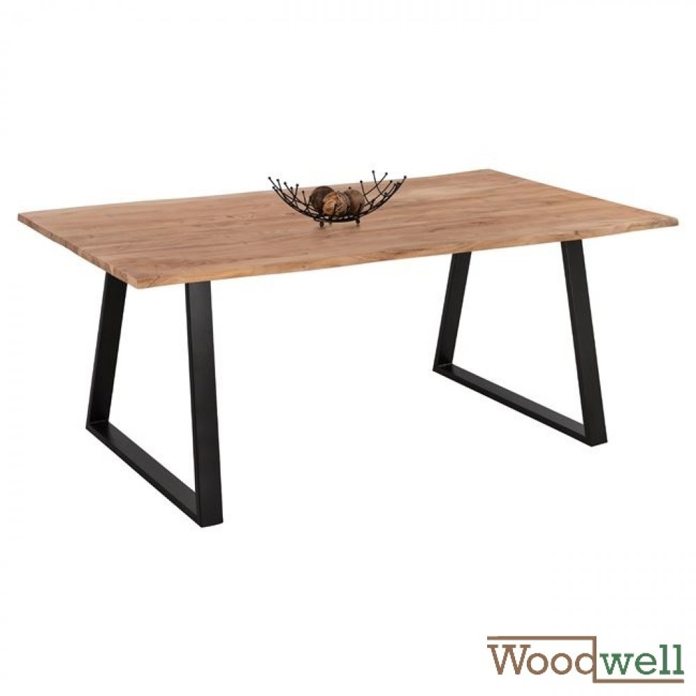 Solid acacia wood table  200x100x77Y cm | Tree trunk furniture