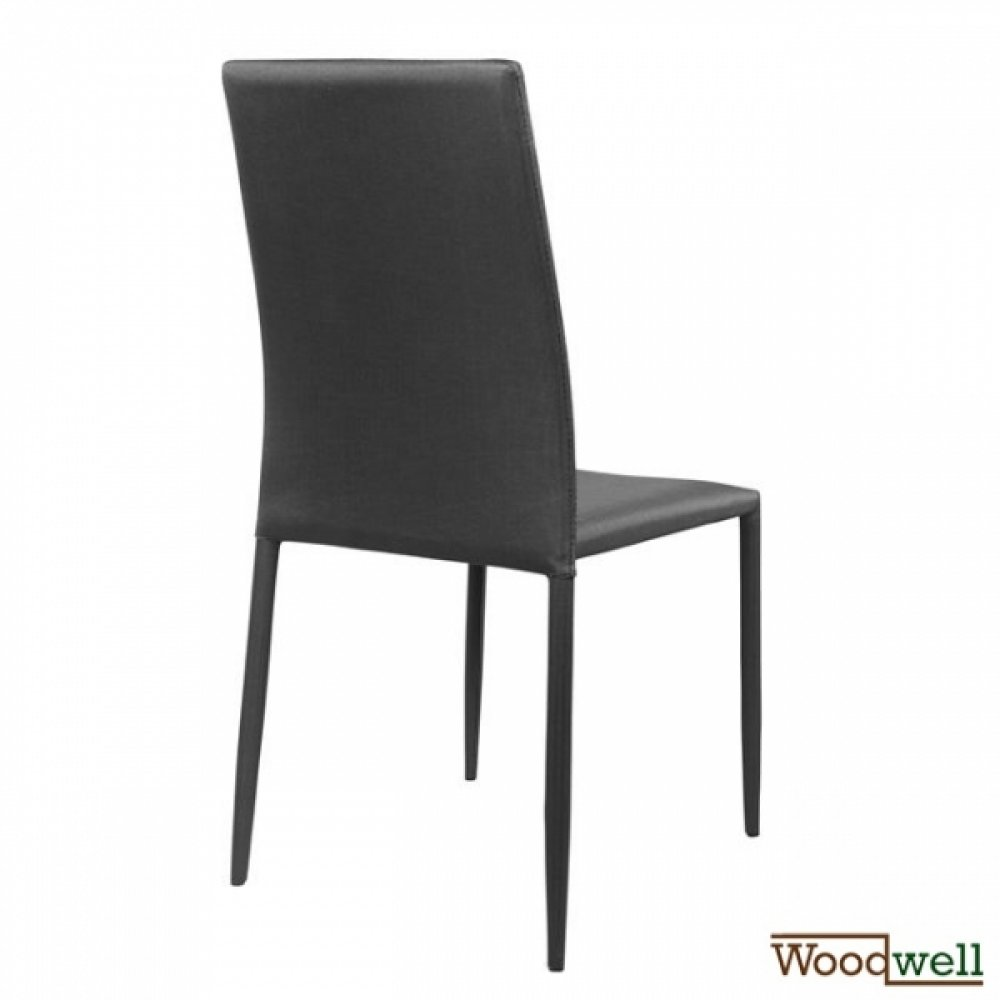 Chair teta in grey fabric