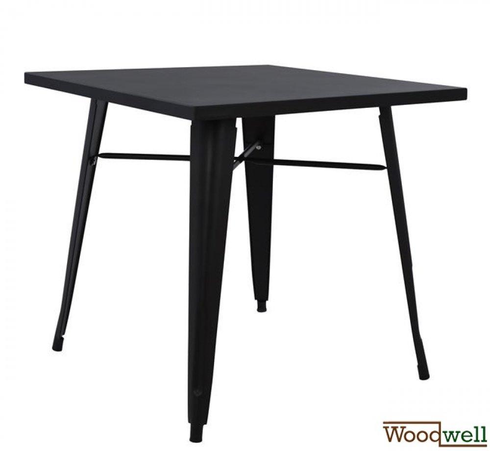 Metallischer tisch in matt schwarzer farbe 80x80x76cm for Schwarzer tisch