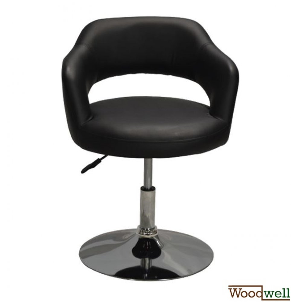 Lounge chair / Club chair round in black