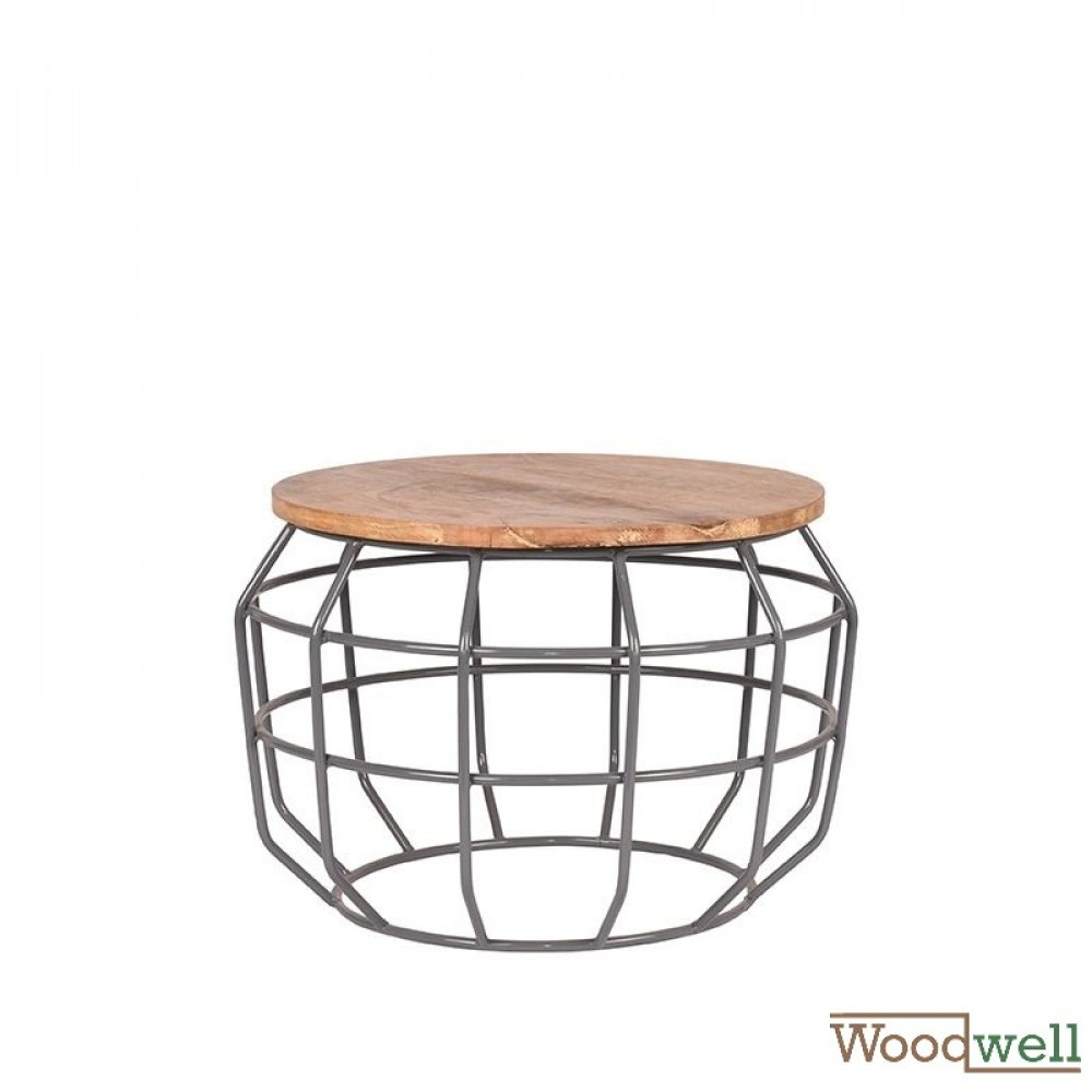 Corner table PIXEL made of solid natural mango wood 56x56x38 cm | Tree trunk furniture