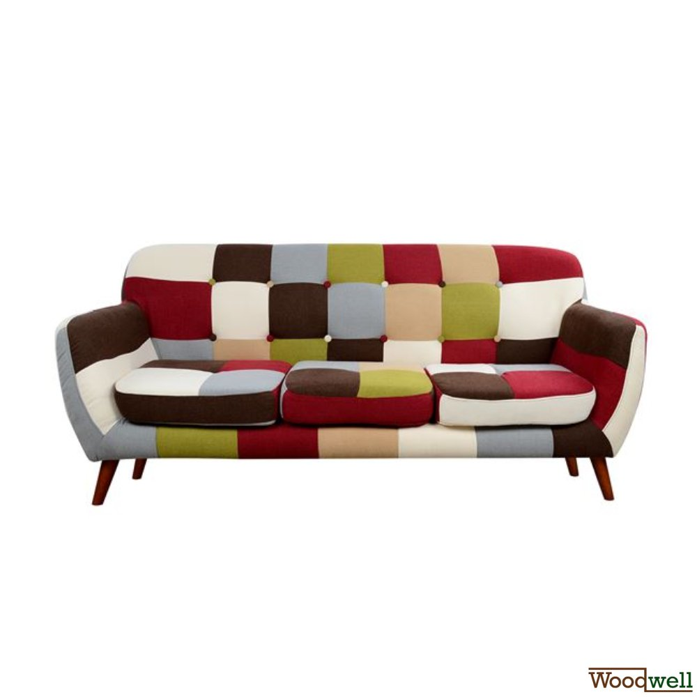 """Carousel"" 3-seater sofa in pop art design"