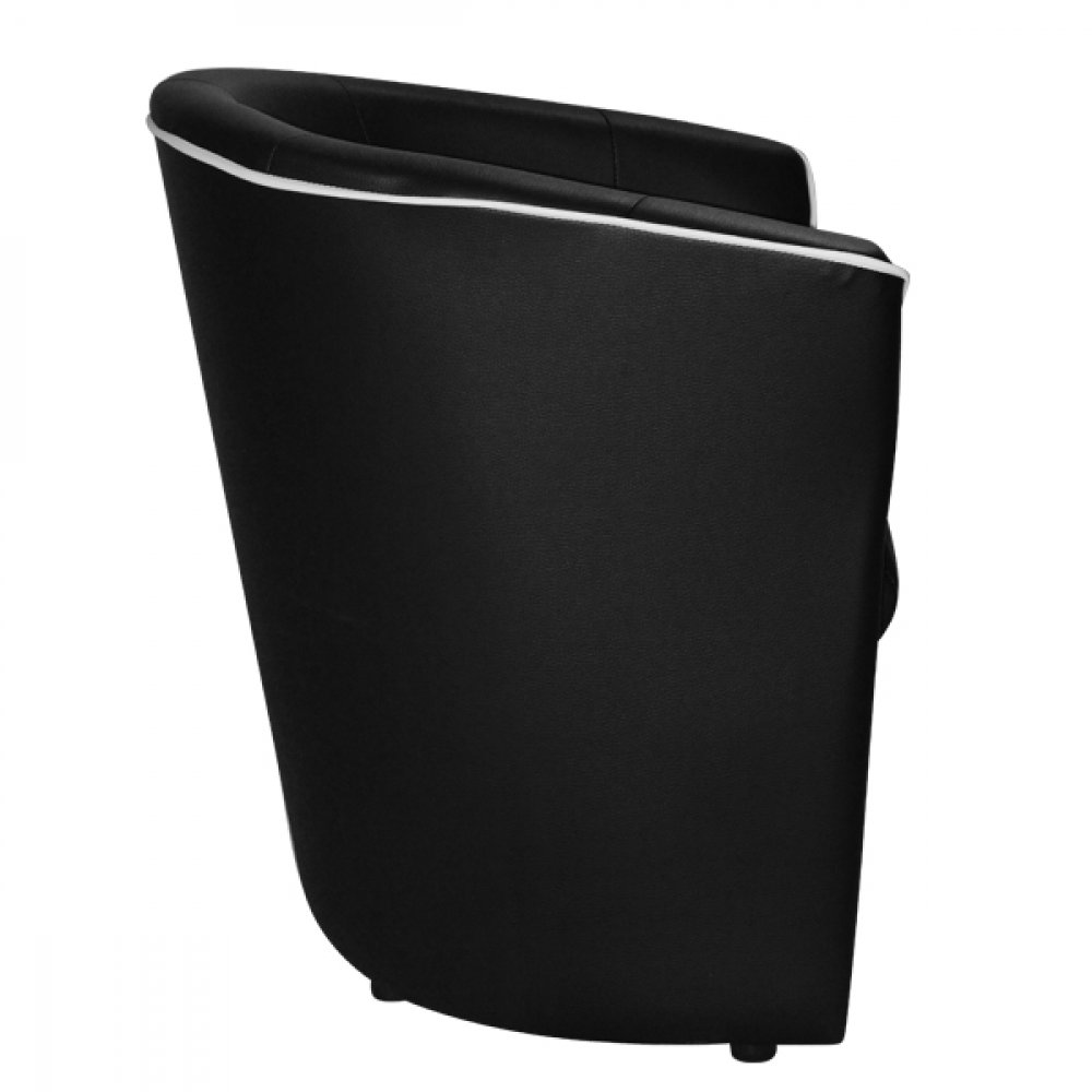 """Banny"" cocktail chair in modern design in black"