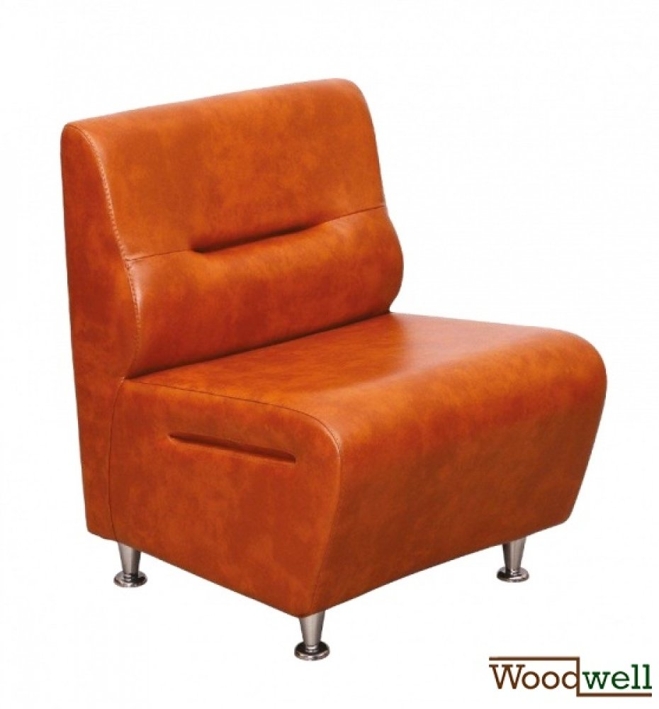 """Combi"" single seater restaurant sofa in imitation leather"
