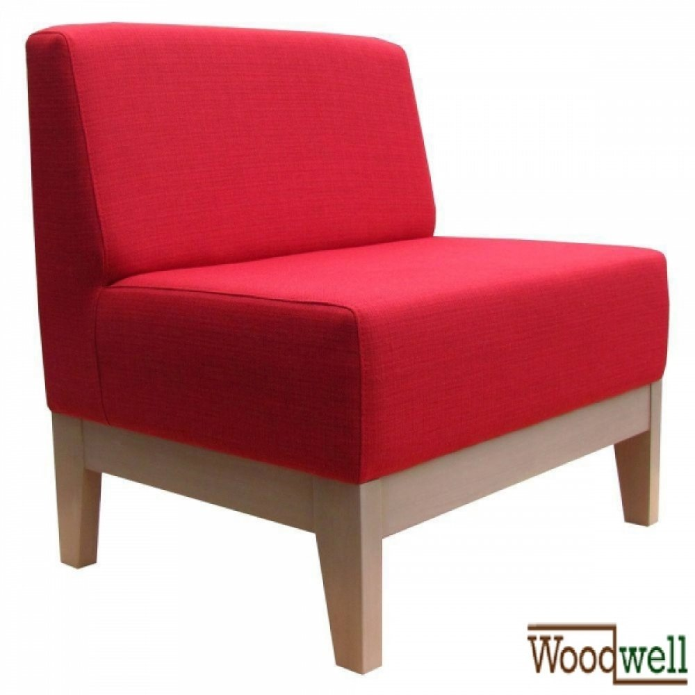 Single-seater bench with comfortable seat and back cushions