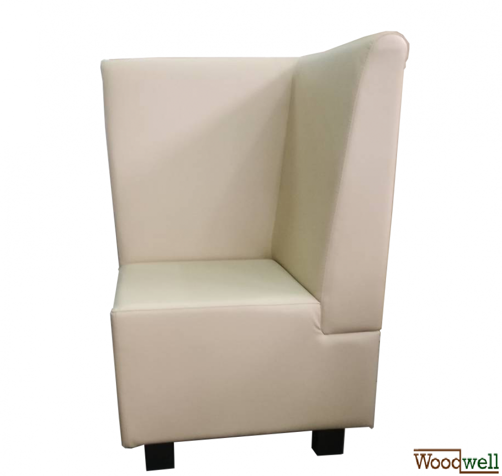 Elegant corner seat with imitation leather cover