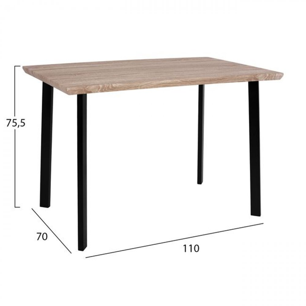Attractive and modern table with black metal frame