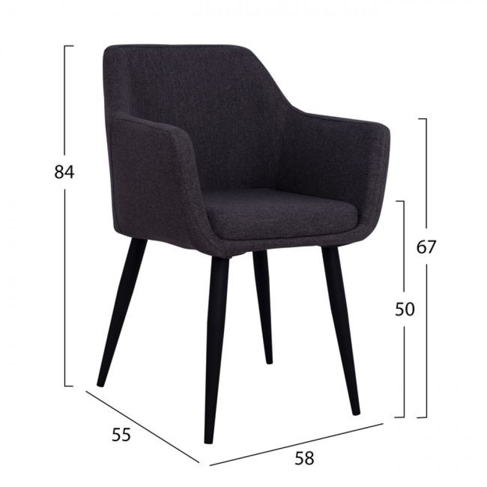 Comfort armchair MONDI in anthracite