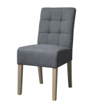Dinning chair sem in grey fabric and wood