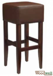 "Barstool made of beech without backrest colour ""wenge"""