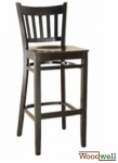 "Barstool made of beech wood in the color ""wenge"""