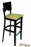 "Bar stool in beech wood in the color ""wenge"""