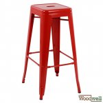 "Outdoor Chairs buy cheap | Design Barstool ""Melita"", in red"