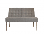 Classic noble bench with square pattern in light gray