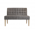 Classic noble bench with square pattern in gray