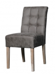 Dinning chair sem in taupe microfiber and wood by woodwell