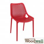 Bistro chair AIR made of plastic I garden chair I outdoor chair with honeycomb pattern