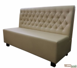 "Modern bench ""miranda"" with imitation leather cover"