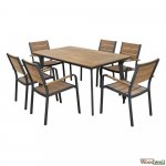 Outdoor-Esstisch-Set Polywood