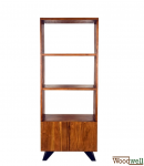 Spacious bookcase made of sturdy acacia wood
