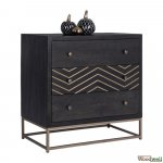 Drawer cabinet Sherri of solid mango wood 75 x 35 x 74 cm