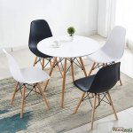 Twist chair in black (4 pieces)