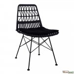 Allegra Wicker chair for inside and outside in black