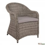 Outdoor Chairs buy cheap | Bistro and terraces Wicker wicker armchair, in gray