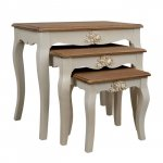 Side tables set MELODY 53,5x34x47cm