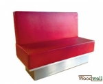 Modern bench with comfortable seat | In red