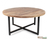 Handmade table made of sturdy mango wood
