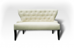 Elegant sofa with button pattern in vintage design
